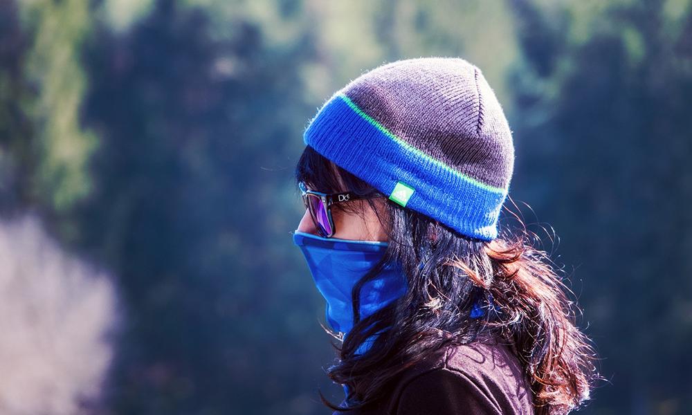 Skiën met mondmasker